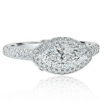 1.59 Ct Horizontal Marquise Cut Diamond Engagement East West Ring 14k Wh... - $2,468.37