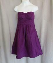 American Eagle Outfitters dress sundress strapless Jr 0  purple empire u... - $8.77