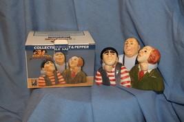 1997 Clay Art Three Stooges Salt and Pepper Shakers w/ Original Box- NEW... - $49.99