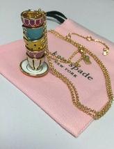 Kate Spade Tea Time Tea Cups Set Pendant Necklace New - $39.99