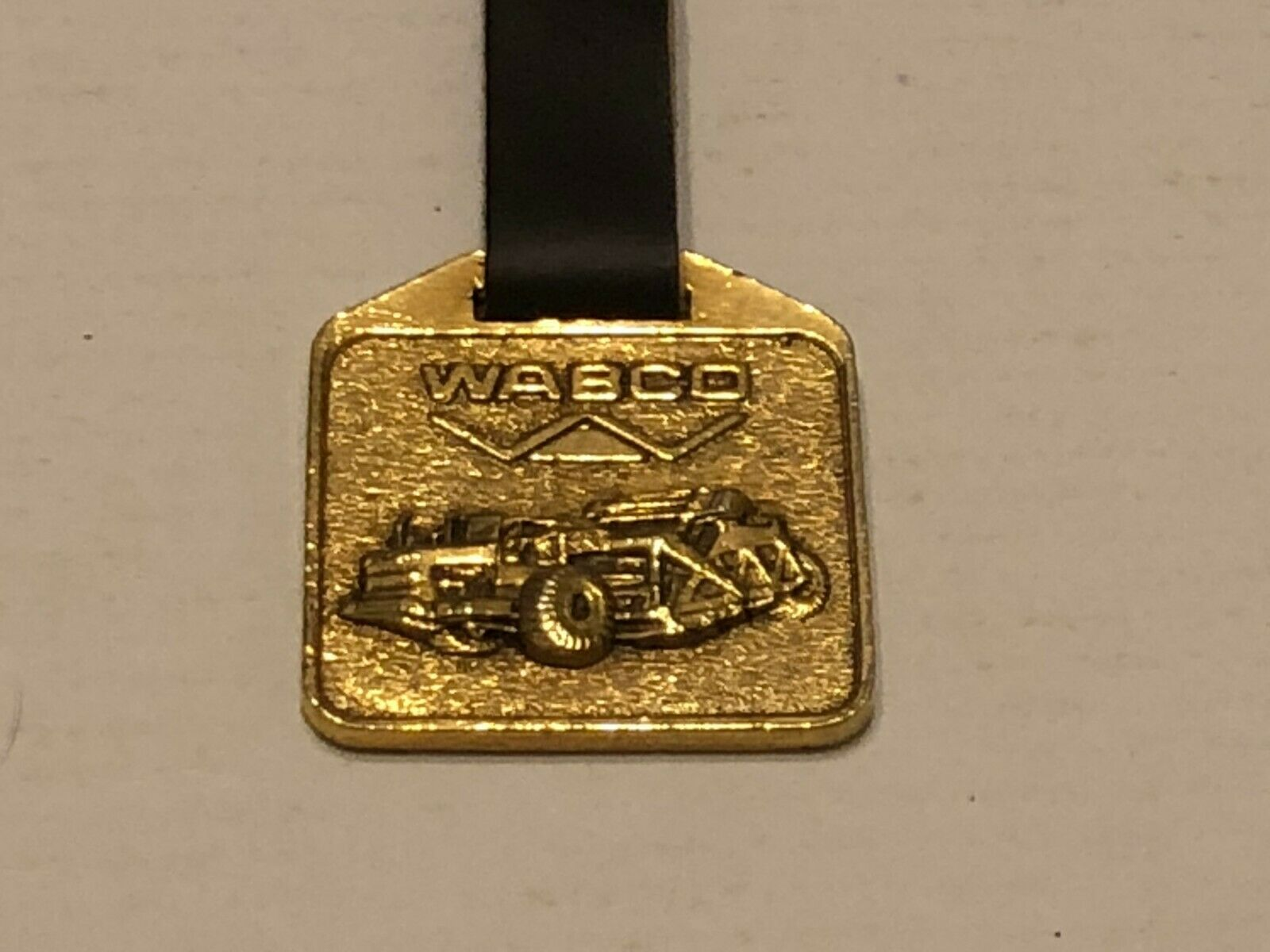 Vintage Watch Fob with Leather Strap - Wabco