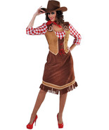 Rodeo Red Check  Cowgirl Costume / Western    - sizes 6 - 22 - $39.87