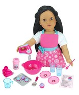 Sophia's 18 PC. Set of 18 Inch Doll Clothes Apron Plus Baking Accessory ... - $20.48
