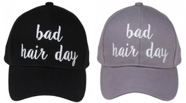 """BAD HAIR DAY"" - CC Embroidered Adjustable Ball Cap Hat - OS Fits Most - $15.99"
