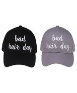 """""""BAD HAIR DAY"""" - CC Embroidered Adjustable Ball Cap Hat - OS Fits Most - $15.99"""