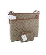 Coach C Signature Purse Cross Body Bag & Wallet Matching Set of 2 Khaki ... - $178.19