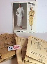 Vogue Sewing Pattern 1531 Vtg Anne Klein 14 Dress Loose Fit Label Americ... - $23.77