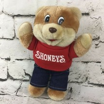"Vintage 1986 Shoneys Restaurant Advertising Teddy Bear Plush 10"" Collectible Toy - $19.79"