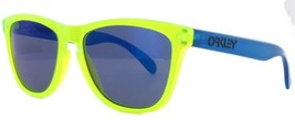 Oakley FROGSKINS Limited Edition BlackLight Yellow w/Blue Iridium 24-289 - $176.35