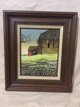 H. Hargrove Oil Painting On Canvas, Old Barn - $86.94