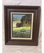 H. Hargrove Oil Painting On Canvas, Old Barn - $85.60