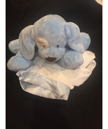 GUND TENDER BEGINNINGS LOVEABLE HUGS BLUE PUPPY 58996 PLUSH W/ SATIN  BL... - $32.68