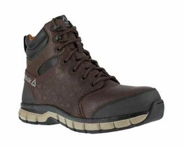 Men's Reebok Work Sublite Cushion Work RB4608 Alloy Toe Boot Brown Leather Size - $169.92