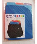 backpack folders (5 ct) - $6.92
