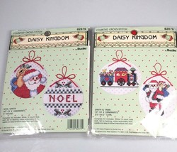Christmas Ornament Cross Stitch Kits Noel and Santa train Bucilla - $24.60