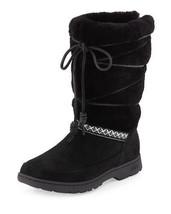 UGG Australia Maxie Boots Black Shearling Leather Women Sz 5 NWOB - $148.50