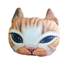 3D Cute Pet Dogs and Cats Face Head Pillow, Exquisite Cat