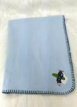 Garanimals Baby Blanket Blue Airplane Light Fleece Stitched Edge Boy B67 - $12.99