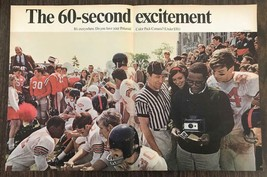 1968 Polaroid Color Pack Camera Ad 60 Sec Excitement High School Footbal... - $11.89
