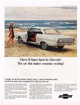 Vintage 1965 Magazine Ad Chevrolet Chevy II Super Sport Makes Economy Ex... - $5.93