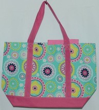 WB M730PIPER Piper Polyester Tote Bag Colors Pink Navy Mint Green Yellow White image 1