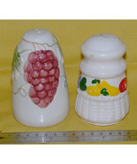 Garden themed salt & pepper shakers,  missmatched pair. - $6.18