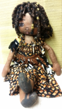 Doll:  Nyla is a Beautifully Handcrafted African Doll in Beaded Outfit, ... - $23.99