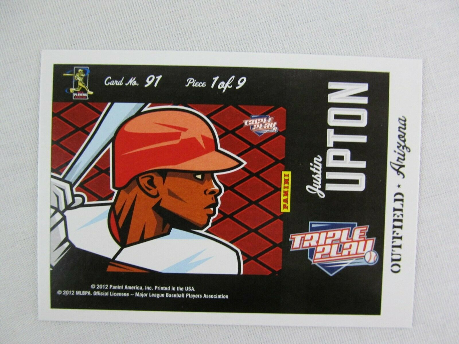 Primary image for Justin Upton California Angels Triple Play Puzzle 2012 Panini Baseball Card 91