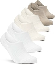 TSLA Women's (Pack of 4, 6) No-Show Casual Fashion Socks w Heel Silicone... - $15.19