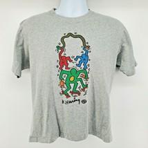 SPRZ NY Keith Haring T Shirt Size S Gray Art Snake Skateboard - £25.01 GBP