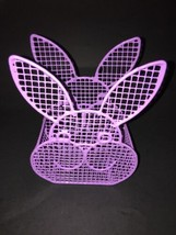 easter bunny spring holiday decor Purple Wire mesh Basket - $9.67