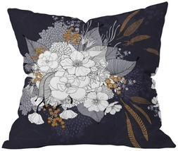 Deny Designs Iveta Abolina Winter Blue Throw Pillow, Blue, Extra Large/2... - $22.79