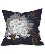 Deny Designs Iveta Abolina Winter Blue Throw Pillow, Blue, Extra Large/2... - $22.61