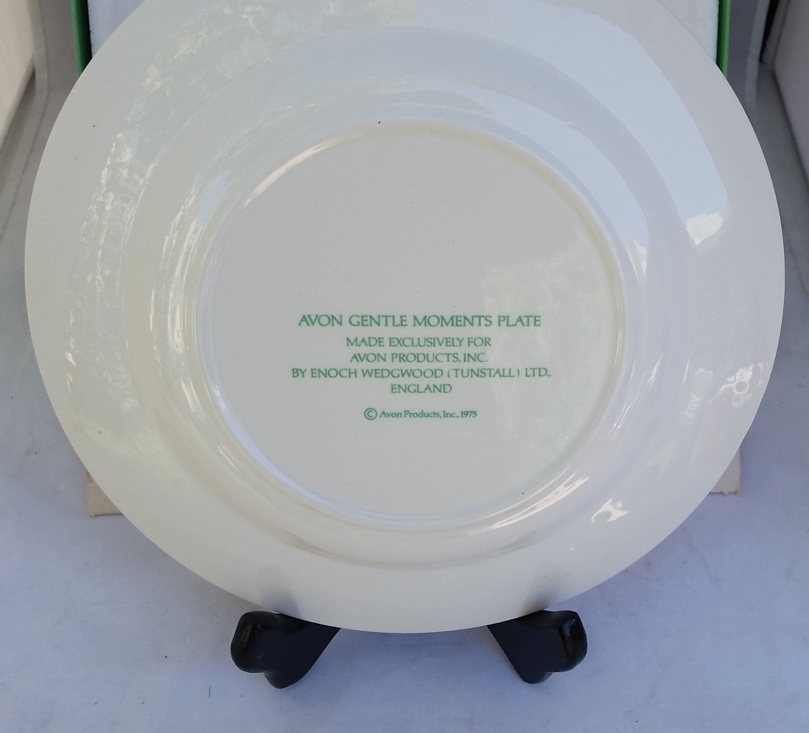 """Enoch Wedgwood England Gentle Moments 8 1/2"""" plate gold rim vintage 1975  in BOX"""