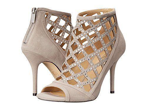 MICHAEL Michael Kors Women's Yvonne Open Toe Bootie, Grey Size 6.5, 7