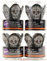 Wilton Cupcake Calavera Sugar Skull Halloween Decoration Party Accessori... - $17.99
