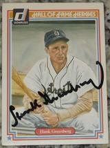 Hank Greenberg 1983 Donruss HOF Heroes Signed Baseball Card Auto JSA AH ... - $113.85