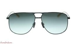 NEW Gucci Sunglasses GG0336S 002 Black Grey Gradient Lens Square 60mm Au... - $193.03