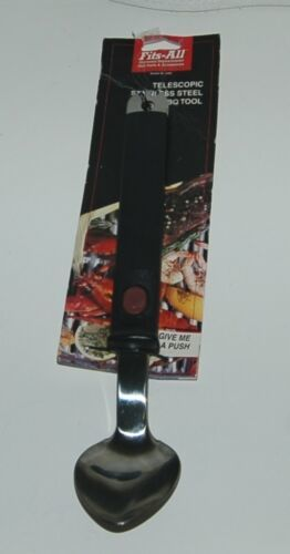 Fits All Telescopic Stainless Steel Barbecue Spoon Push Button