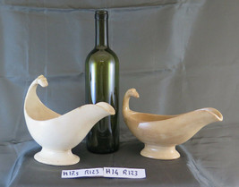 Two Saucers IN Ceramic Sarreguemines France Ancienne Saucière Gravy Boat... - $128.53