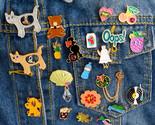 N cat dog tiger bear rabbit oops vinyl record shell brooch pin shirt badge jewelry thumb155 crop