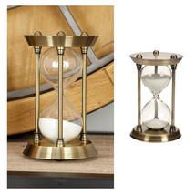 Nautical Sand Timer Brass Quarter Hourglass Antique Vintage Decor Marine... - $21.85