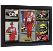 Ayrton Senna signed autographed photo print Formula1 F1 Grand Prix Framed - $21.72