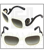 PRADA ORNATE BAROQUE Swirl Jewel Square Sunglasses PR33PSA Black White 33P - $395.01