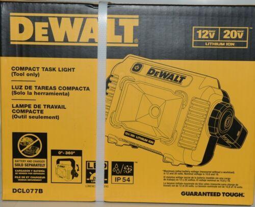 DeWalt DCL077B Compact Task Light TOOL ONLY 12V 20V Lithium Ion CORDLESS Pkg 1