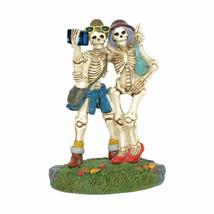 Dept 56 Snow Village Halloween SKELFIE Skeletons Selfies 6003220 New in Box - $45.99