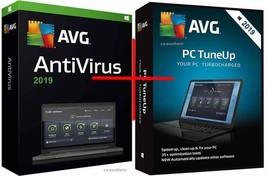 Avg Antivirus + Pc Tuneup Nuovo 2019 Versione per 1 & 1 Year - ESD Spedi... - $23.40
