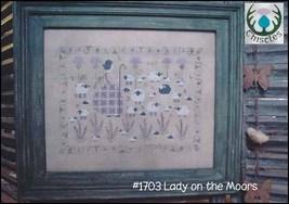 Lady On The Morris sheep cross stitch chart Thistles - $10.80