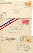US Army Airmail WWII APO Navy Military Cover Examined Postage Collection  image 5