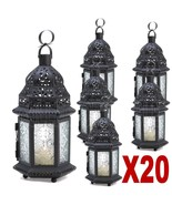 20 CLEAR MOROCCAN IRON GLASS CANDLE LANTERNS PARTY EVENTS WEDDING CENTER... - $174.88